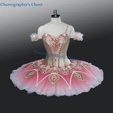 Professional Pink & Golden Ballet Tutu Pancake Style Tutu Nutcracker YAGP MTO