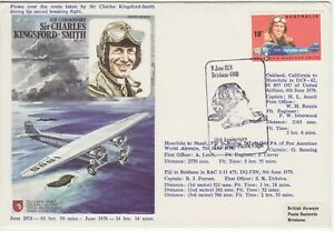 GB Stamps RAF Souvenir Cover First Trans Pacific Flight by Kingsford Smith 1978