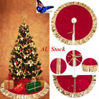 "AU 35.5""/90cm Golden Edge Christmas Tree Skirt Stands Ornaments Xmas Party Decor"