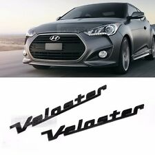 Side Front Trunk Mini Emblem Point Logo Badge Black for HYUNDAI 2011-17 Veloster