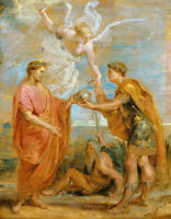Constantius Appoints Constantine As His Successor Rubens Fine Art Print Canvas S