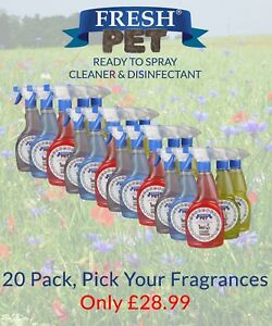 Fresh Pet Spray Cleaner Paw Safe Disinfectant - Mixed 20 Pack
