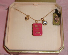 Juicy Couture 2011 Graduation Pink Locket Charm Necklace