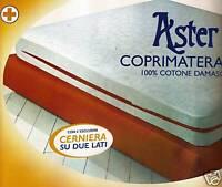 COPRIMATERASSO 1 piazza e 1/2 cotone 130x200 con CERNIERA