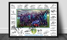 Leeds United 2020 Champions Signed Print A4