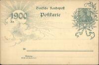 Postal History 1900 German Gov't Postal Card Deutsche Reichspost