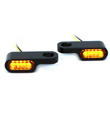 IRON OPTICS mini LED Blinker Blinkerhalter für Lenkerarmaturen Harley Schwarz