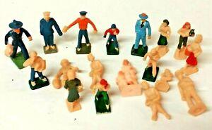 Lot of (18) Vintage American Flyer or Other S Scale Figures Men, Women, Children