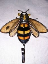 Leaded Glass Bee Bumblebee Coat Robe Hook