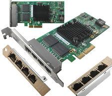 Intel I350-T4 PCI-Express RJ45 PCI-E 4  Ports Gigabit Server Adapter NIC I350AM4