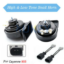 Snail Horn 12V 110-125db 410/510Hz Waterproof Dual Pitch For Porsche Cayenne MK1
