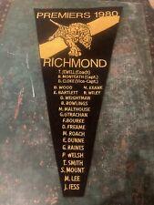 RARE VFL Original Richmond 1980 Premiers Embroidered Pennent
