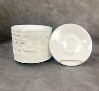 "Set of 8 Corning Corelle Winter Frost White Livingware Saucers 6.25"" Corning"