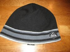 d7e2636aff3 Adidas black tight beanie hat climawarm youth unisex