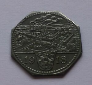 Notgeld: Frankenthal Zuckerfabrik (Sugar factory) 50 Pfennig 1918, War money