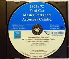 1965 - 1972 FORD MUSTANG FAIRLANE GALAXIE LTD MASTER PARTS CATALOG MANUAL CD-ROM