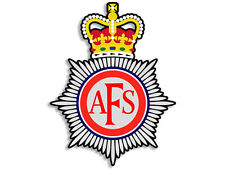 4x4 inch AFS UK Fire Crest Shaped Sticker -decal logo firefighter europe badge