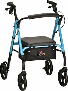Nova Star 8 Foldable Rolling Mobility Walker Rollator - 5 COLOR CHOICE NEW