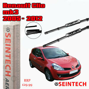 """RENAULT CLIO MK3 2005-2012 SPECIFIC FIT FRONT WINDSCREEN WIPER BLADES 24""""16"""""""
