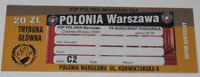 old ticket EL Polonia Warszawa Buducnost Podgorica 2009 Poland Montenegro