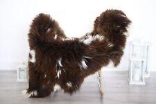 Real Natural English SHEEPSKIN RUG Fur Throw Genuine Sheep Skin Brown #1sheb10