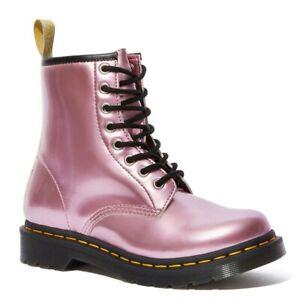 Dr. Martens Women's 1460 Vegan Pink Gold Mix Boot US 7 UK 5 NEW