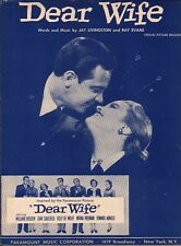 Dear Wife 1950 WILLIAM HOLDEN Movie Jay LIVINGSTON & Ray EVANS Sheet Music!