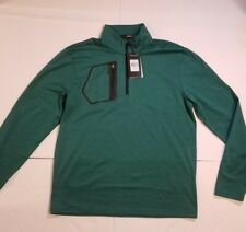 Ralph Lauren RLX Golf Stretch Jersey Pullover Green Men's Size Medium $125 MSRP