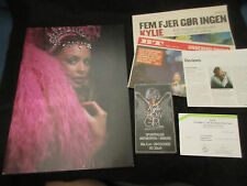 Kylie Minogue Showgirl 2005 World Tour Book with Belgian Ticket Stub PWL Synth