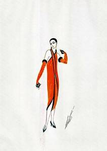 1972 Original Limited Edition Vintage Erte Art Deco Print Manhattan Mary
