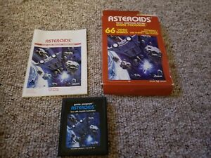 Atari 2600 1981 Asteroids Game Complete In Box CIB with Tracking!