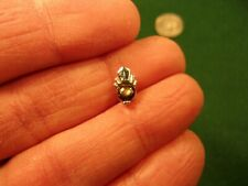 """GORGEOUS VTG MENS RHODIUM? PLATED TIE TACK, """"SWANK 'S'"""" WITH SMOKY STAR SAPPHIRE"""
