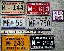ST MAARTEN License Plate Tag  1993 thru 2014 era -  MOTORCYCLE