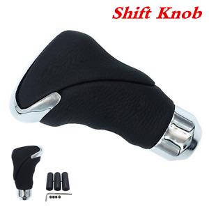 Black Metal Automatic Car Gear Stick Shift Knob Cover Handle Shifter Lever Head