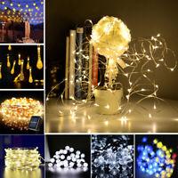 30-200 Led Solar Power Fairy Light String Lamp Party Xmas Deco Garden Outdoor
