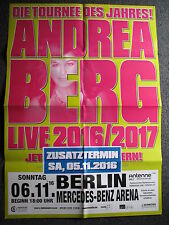 Andrea Berg-Konzertposter-Tourplakat-Zusatzkonzert-5.11.2016 Berlin-Poster