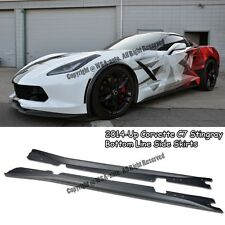 For Corvette C7 Stingray Add On Bottom Line ABS Side Skirts Rocker Panel