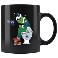 Grinch Philadelphia EAGLES Black Funny Coffee Mug Grinch EAGLES Coffee Mug Gift