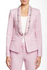 TED BAKER pink embellished formal tux suit blazer smart dress jacket party 2 10
