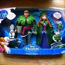 "Disney FROZEN Deluxe TROLL WEDDING Set OLAF & 2 Trolls ANNA KRISTOFF 12"" Mattel"