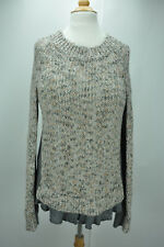 Moth Anthropologie women long sleeve rufled knitted sweater size S/P