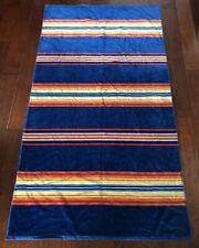 "PENDLETON Beach Towel BLUE Serape Stripe POOL SPA BOAT Luxurious 40""x70"" NWT"