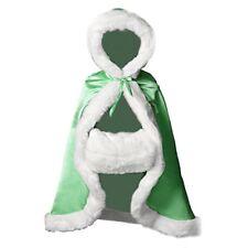 Flower Girl Cape Winter Wedding Cloak for Infant Junior Bridesmaid Hooded