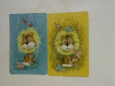2 Single Swap/Playing Cards - Pair Cute Animals Lions