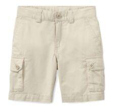 Nwt New Ralph Lauren Polo Boys Khaki School Cargo Uniform Shorts Size 5 $35
