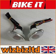Bikeit Small Oval Universal Indicators with Clear Lens INDFSLST