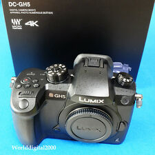 PANASONIC DC-GH5 Only Body 6K/4K 8 Languages 5-Axis Dual I.S. Twin SD Card Slots
