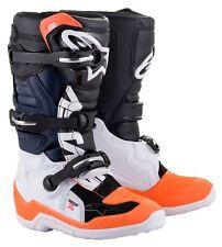 NEW Alpinestars Tech 7s YOUTH MX Motocross Boots - Black/White/Orange Flo