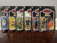 Star Wars Retro Collection Wave 2 Set Luke, Han Leia, Lando, Yoda & Boba Fett