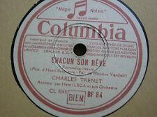 78 trs-rpm-Charles TRENET- Chacun son rêve-COLUMBIA BF 84